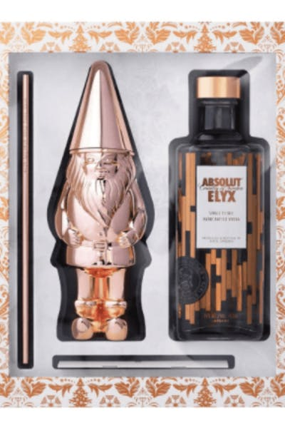 Absolut Elyx Luxury Vodka Copper Gnome Gift Pack