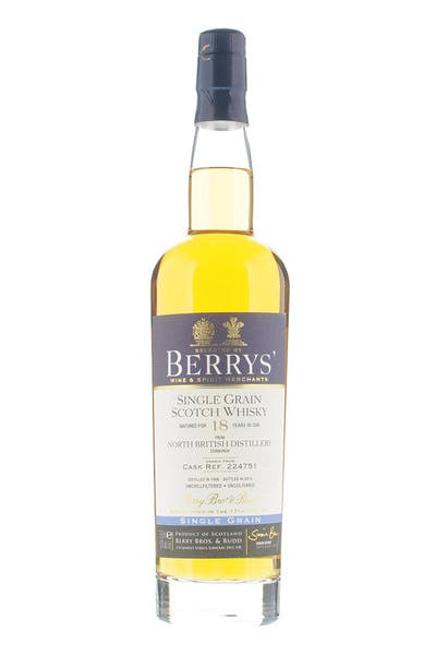 Berrys' North British Single Grain 18 Yr