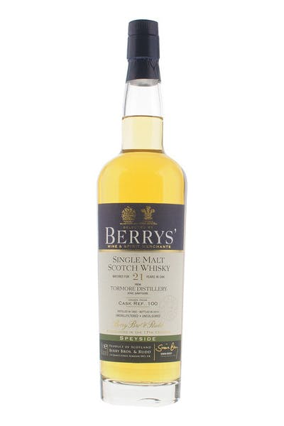 Berrys' Tormore 21 Yr