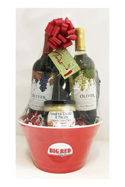 Big Red Bowl Oliver Twist Savory