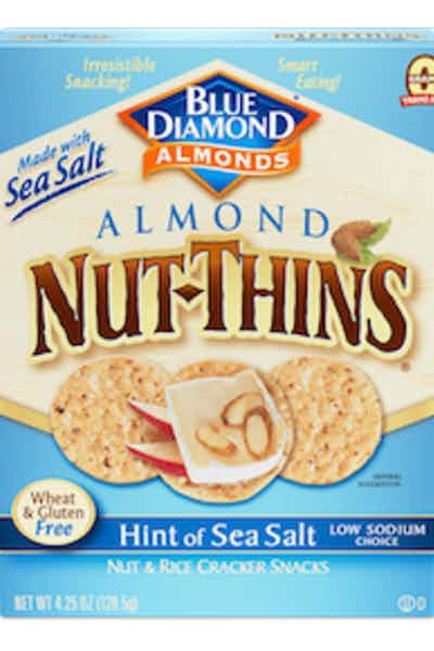 Blue Diamond Almond Nut Thins Hint of Sea Salt