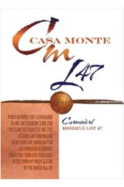 Casa Monte Reserve Lot 47 Carmenere