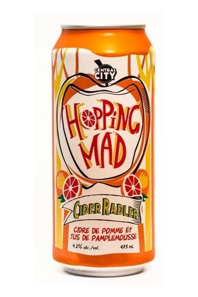 Central City Hopping Mad Cider Radler
