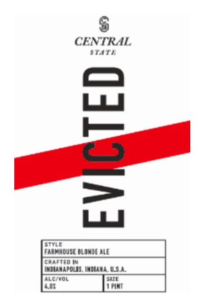 Central State Evicted Blonde Farmhouse Ale