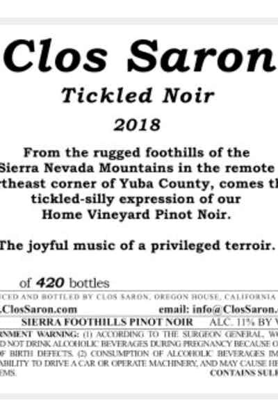 Clos Saron Tickled Noir