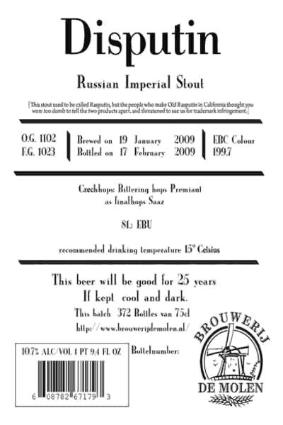 Disputin Russian Imperial Stout