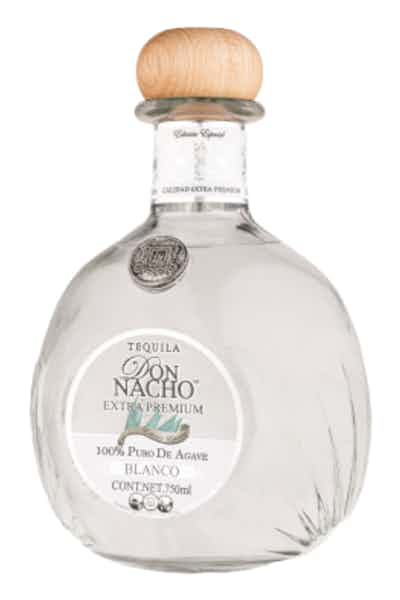 Tequila Don Nacho Extra Premium Blanco 100% Pure of Agave