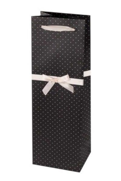 Elegant Black Wine Bag