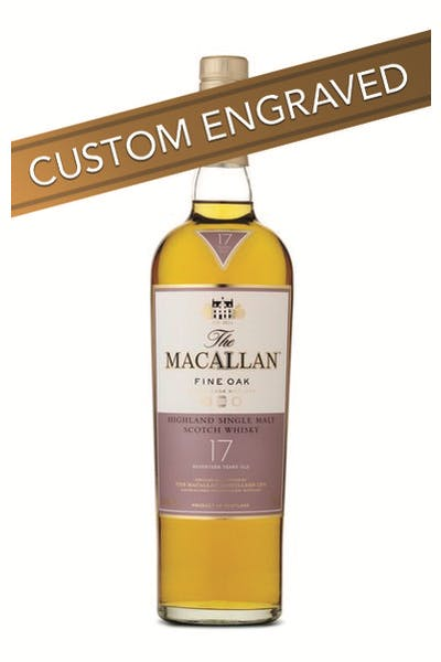 * ENGRAVED The Macallan 17 Year Fine Oak