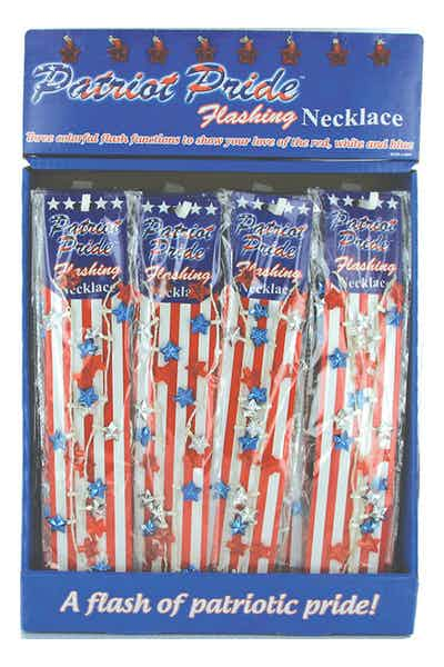 Flashing Necklace   Patriotic Lights
