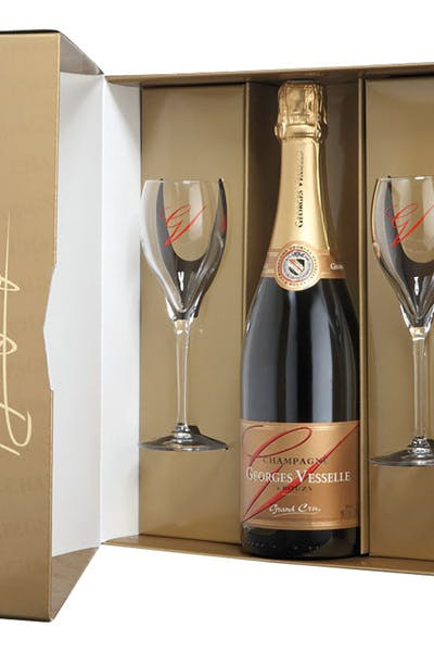 Georges Vesselle Brut Grand Cru Gift With 2 Glasses