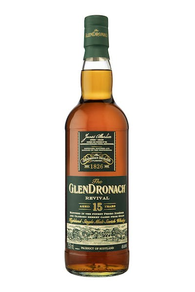 The GlenDronach Single Malt Scotch Whisky Revival Aged 15 Years