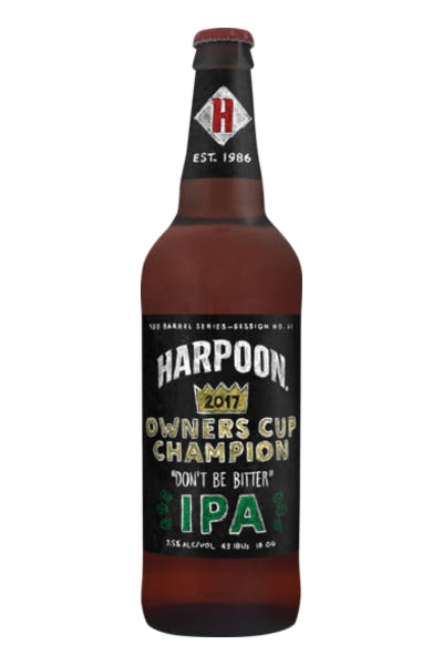Harpoon 100 Barrel Series: #61 Don't Be Bitter IPA