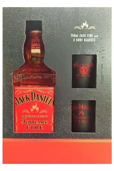 Jack Daniel's Fire with 2 Shot Glasses