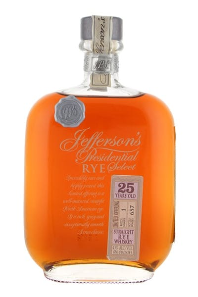 Jefferson Straight Rye 25 Year