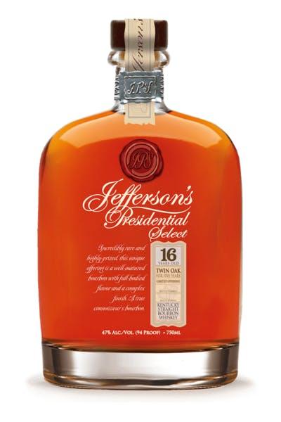 Jefferson's Presidential Select 16 Year Old Twin Oak Bourbon