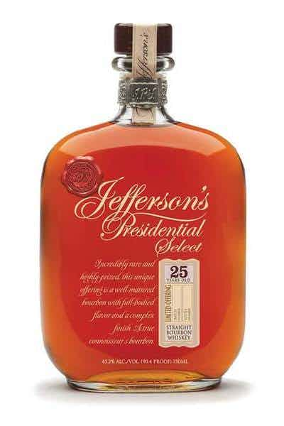 Jefferson's Presidential Select 25 Year Bourbon Whiskey