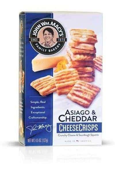 John Wm. Macy's Cheesecrisps Asiago & Cheddar