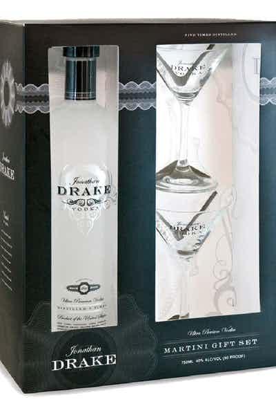 Jonathan Drake Vodka Gift Pack With 2 Glasses