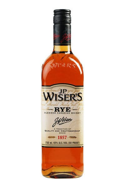 JP Wiser's Blended Canadian Rye Whiskey