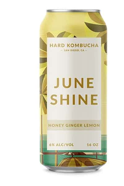 JuneShine Honey Ginger Lemon Hard Kombucha