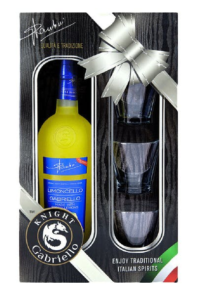 Knight Gabriello Limoncello Gift Pack With 3 Glasses