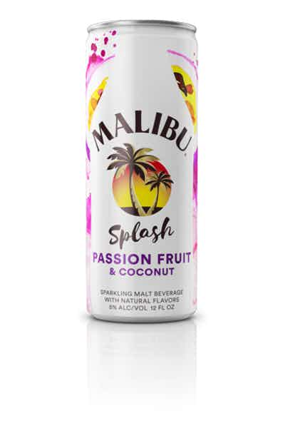 Malibu Splash Passion Fruit & Coconut Sparkling Malt Beverage