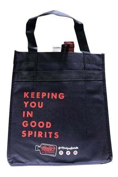 Molly's Spirits Reuseable 6 Bottle Wine Bag Blue