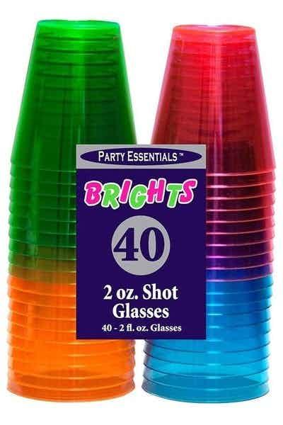 Party Essentials Neon Shot Glass
