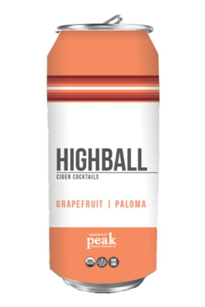 Peak Organic Highball Grapefruit / Paloma
