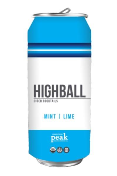 Peak Organic Highball Mint Lime