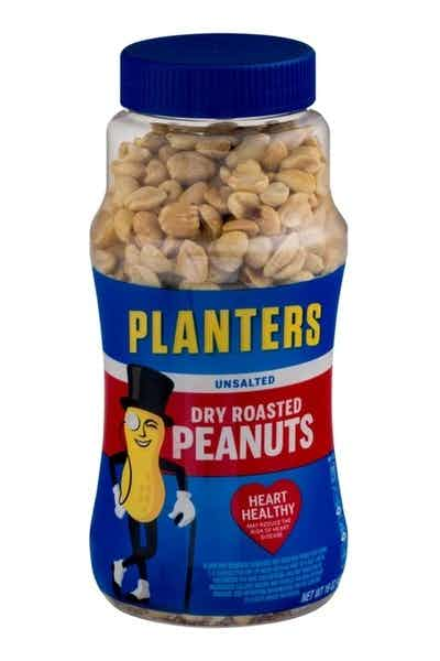 Planters Dry Roasted Peanuts Unsalted