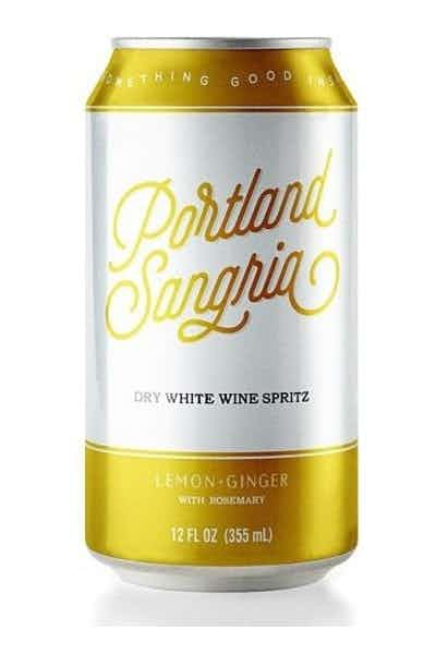 Portland Sangria Lemon Ginger Rosemary