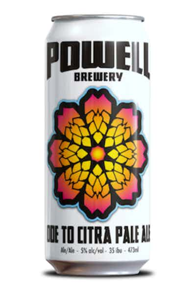 Powell Ode To Citra Pale Ale