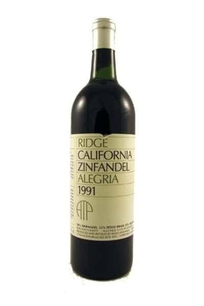 Ridge Vineyards, Zinfandel Alegria Atp 1991
