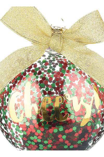 Slant Glass Cheers Ornament