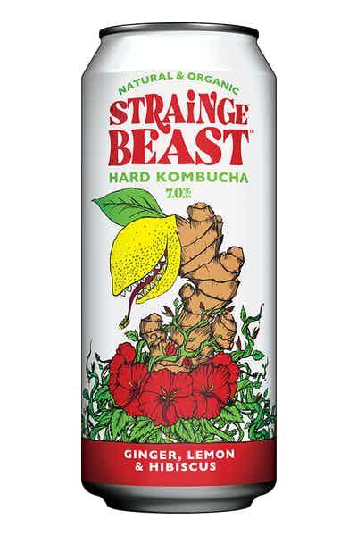 Strainge Beast Ginger Lemon & Hibiscus Hard Kombucha