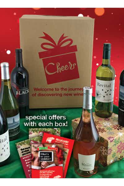 The 6 Bottle Cheers Box Gift Basket