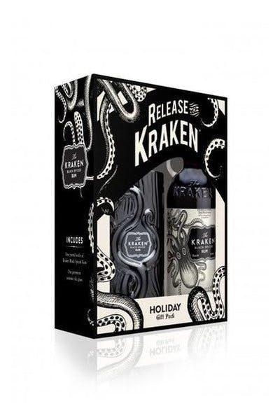 The Kraken Black Spiced Rum Set with Tiki Glass