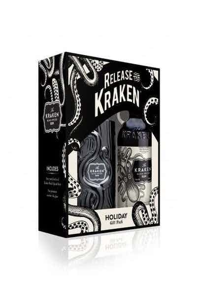 The Kraken Black Spiced Rum Set with Tiki Glass