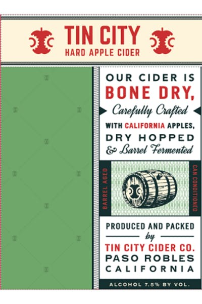 Tin City Original Hard Cider