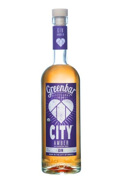 CITY Amber Gin from Greenbar Distillery