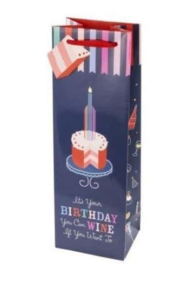 True Fab Birthday Cake Wine Gift Bag