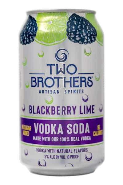 Two Brothers Blackberry Lime Vodka Soda