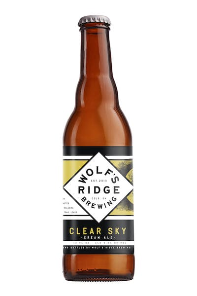 Wolf's Ridge Clear Sky Cream Ale