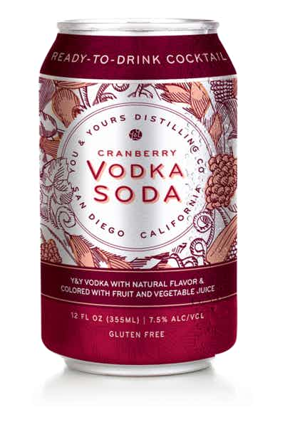 Y&Y Vodka Soda Cranberry Canned Cocktail