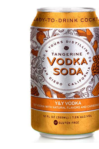 You & Yours Vodka Soda Tangerine Canned Cocktail