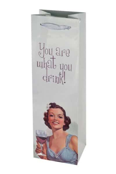 """""""You Are What You Drink"""" Wine Bag"""